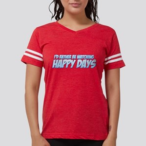 I'd Rather Be Watching Happy Womens Football Shirt